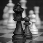 A masculine life - mylusciouslife.com - Black and white chess board pieces