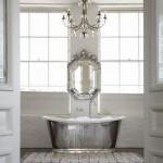 Silver - Anita Kaushal bathroom with Venetian Mirror