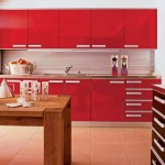 Beautiful houses and gardens - red kitchen - Fashion designer Nanette Lepore
