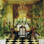 Chateau Gabriel dining room - At home with Yves Saint Laurent and Pierre Berge