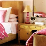 Colourful bedrooms - Luscious bedroom with pink and yellow tones