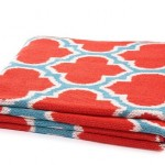 Tangerine throw in Moroccan print from Adore Online