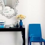 Decorating with mirrors - cobalt-chair