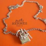 Hermes Silver Birkin Palladium Necklace