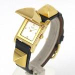 Hermes Black Box Calf Medor Watch