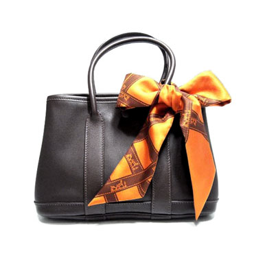 Hermes garden bag with scarf