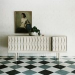 Black and white floor: Fab mid-century style sideboard