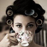 Luscious Lifer favourites - mylusciouslife.com - model with hair in rollers drinking tea