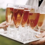 Luscious entertaining - mylusciouslife.com - Silver tray filled with glasses of champagne