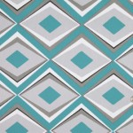 Geometric prints - Mood fabrics - Turquoise 23 Geometric Prints HC21429