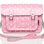 Pink polka dot bag
