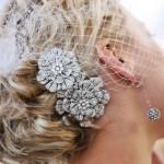 Luscious diamond hair accessory and veil - mylusciouslife.com