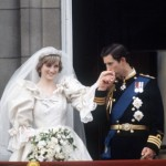 Lady Diana Spencer and Prince Charles on the balcony on their wedding day
