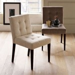 Tufted beige dining chair