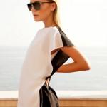 Black and white dress: Vendela Johanssen by Dennison Bertram in Gucci for Marie Claire Czech