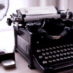 Royal antique black typewriter - Vintage inspiration - mylusciouslife.com