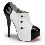 Black and white Teeze 072 shoe booties