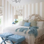 Sophisticated bedrooms - Luscious bedroom design with blue, beige tones