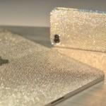 Silver bling fling laptop cover