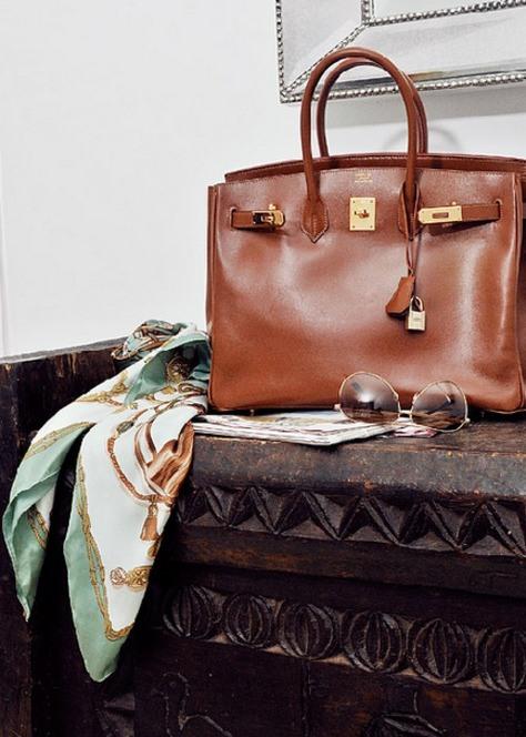 Hermes Birkin bag and scarf - www.myLusciousLife.com