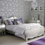 Silver bedroom decor