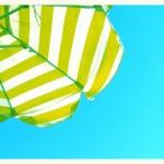 luscious striped umbrella