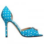 manolo-blahnik-spring-summer-2011 polka dot shoes in blue