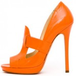 mylusciouslife.com - Versace - orange patent leather peep-toe pump