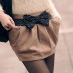 polka dots bow belt