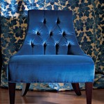 Royal blue tufted armchair - Tufted furniture