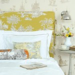 Elegant bedrooms - Luscious bedroom with yellow chinoiserie headboard