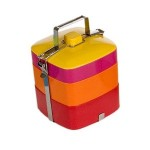 Colourful life - Vivo Square Bento Box in Red Orange Pink Yellow
