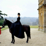 Historical fashion styles - mylusciouslife.com - Lady Mary on a horse - the hunt at Downton Abbey