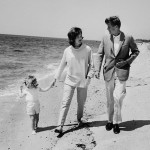 Pictures of Jackie and John Kennedy on the beach