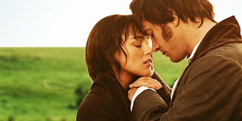 Pride and Prejudice 2005 - mylusciouslife.com - field scene at dawn - Elizabeth Bennet and Mr Darcy