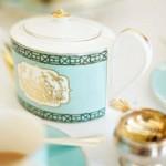 Beautiful white and blue china teapot