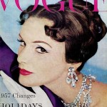 Vintage Vogue magazine covers - mylusciouslife.com - Vintage Vogue UK January 1957