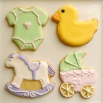 a luscious childhood - beautiful baby shower cookies
