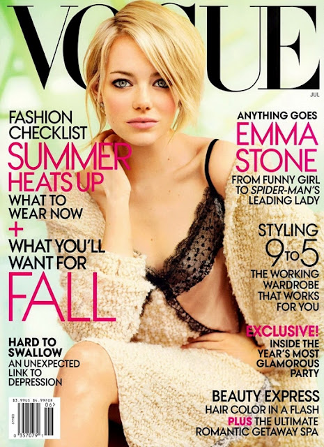 c55b51393bcbd KNOW YOUR FASHION HISTORY  Vogue magazine covers 2000-2012. By   Published  December 7, 2012. Vogue magazine covers - mylusciouslife.com - emma stone  vogue ...