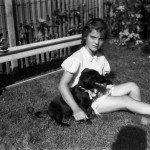 Jackie Bouvier's tenth birthday with Tammy the dog