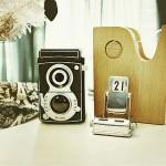 A luscious life - vintage camera vignette ornaments