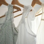A luscious life - luscious clothes hanging in a row in wardrobe