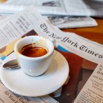 A luscious life - luscious coffee and newspaper