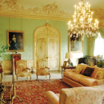 Downton Abbey and Highclere Castle interiors - drawing room