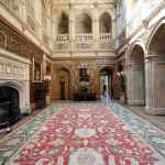 Downton Abbey and Highclere Castle interiors - main hall