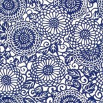 True blue: Modern floral graphic