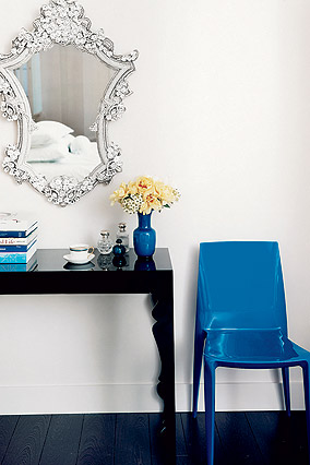 True blue: cobalt blue chair