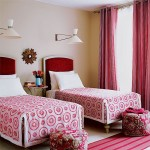 Red and Pink Guest Bedroom via house to home