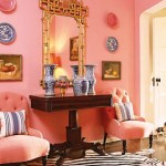 Blue china, white and pink room by Mary McDonald