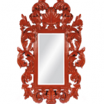 Bold colored Hollywood Regency style mirror